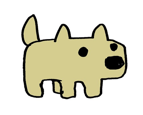 立ってる犬