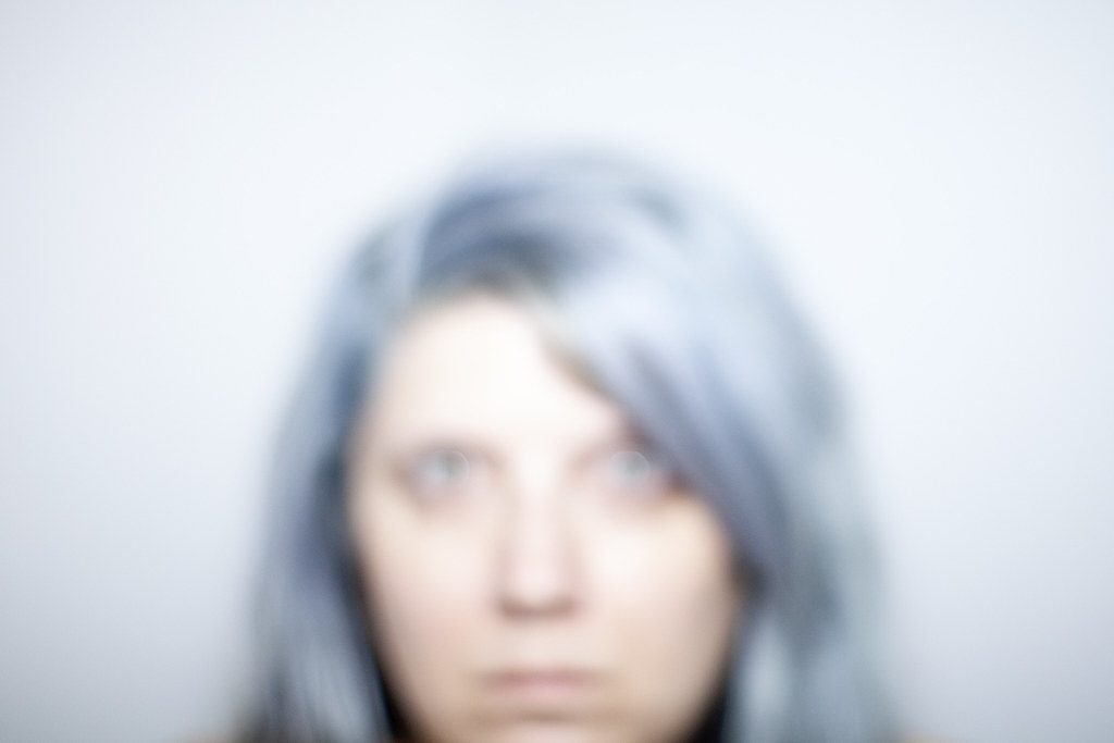 unfocused self-portrait