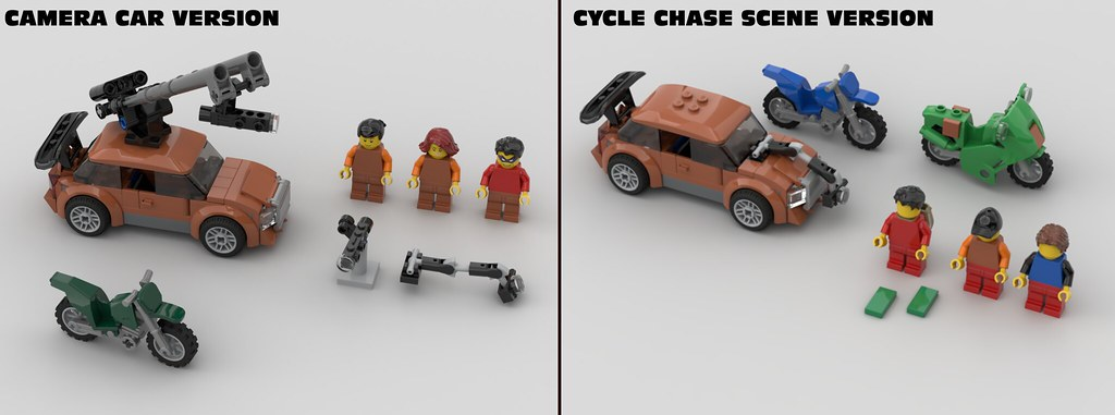 Cycle Chase Scene / Camera Car