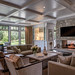 Living room with central fireplace. by Notkalvin
