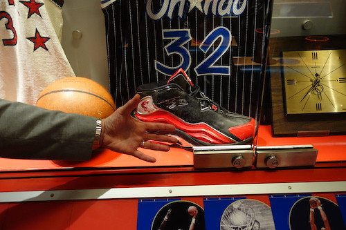 Shaq's shoe! From Nothing But Net: The Naismith Basketball Memorial Hall of Fame Is a Sweet Three-Pointer
