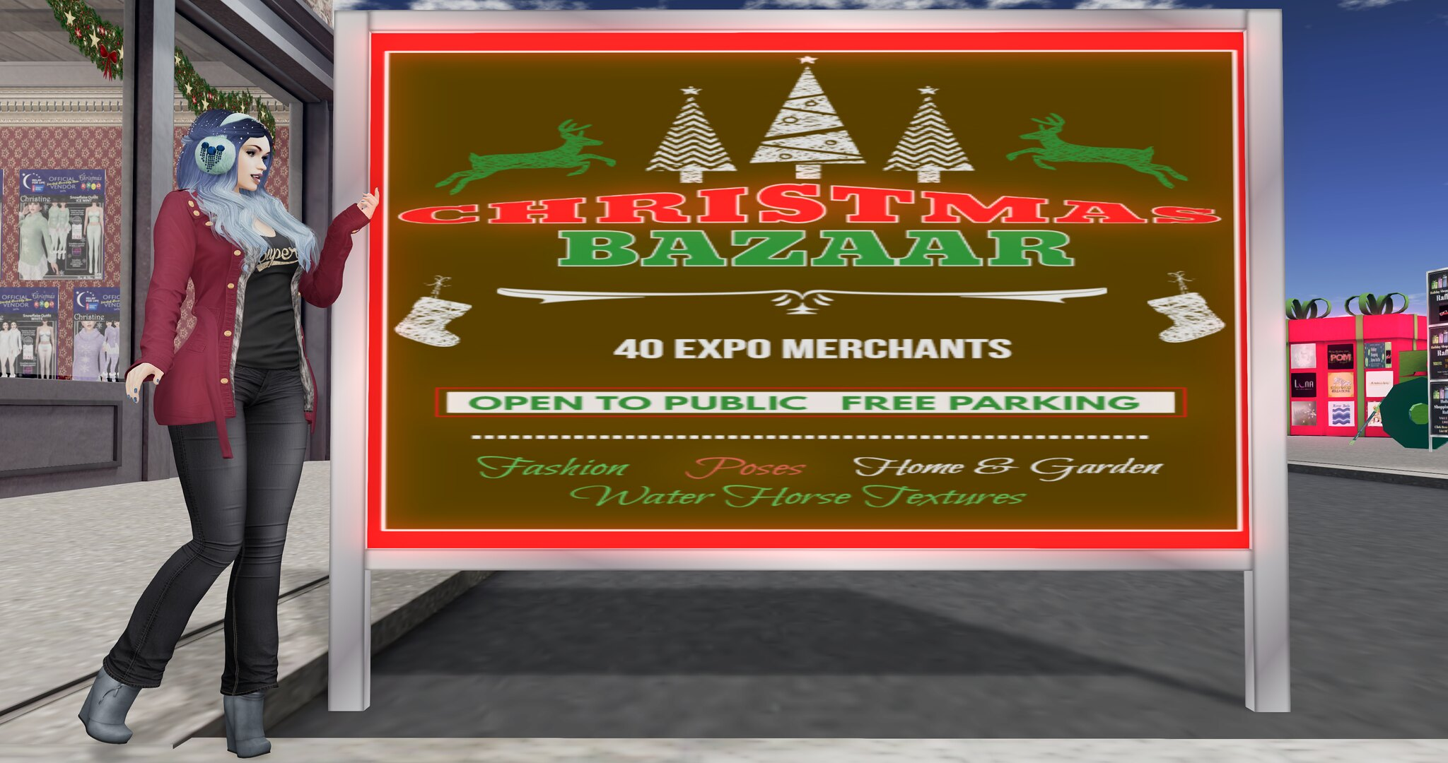 SL Christmas Expo - The Sleigh Ride Sim