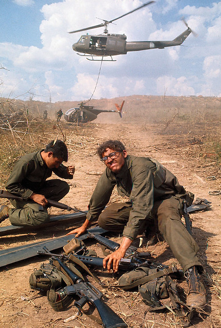 Vietnam War 1971 - Soldiers Under the Influence of Helicop