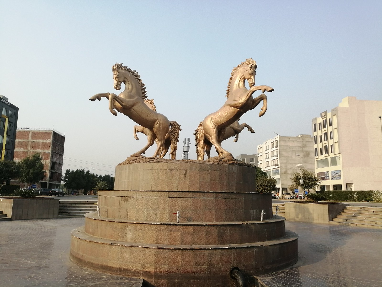 Picture of Horses Statue with HDR Mode on Huawei Y9 2019