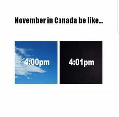 November in Canada be like...