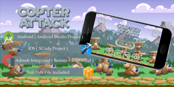 Copter Attack v1.0 - Buildbox Template