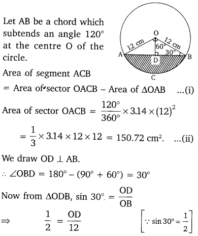 NCERT Solutions for Class 10 Maths Chapter 12 Areas Related to Circles 14