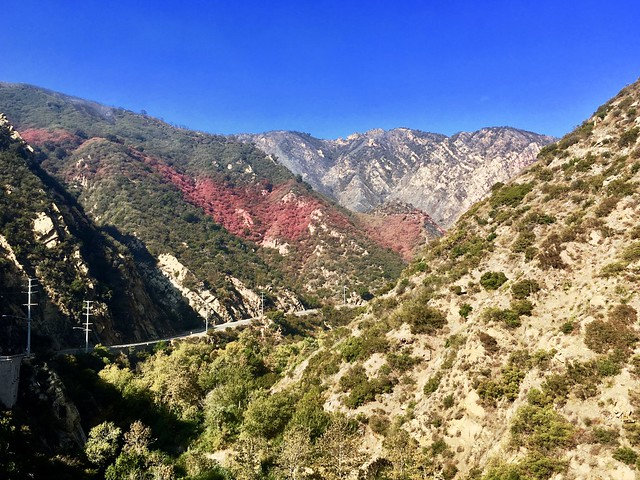 signs of the firefight in Malibu Canyon