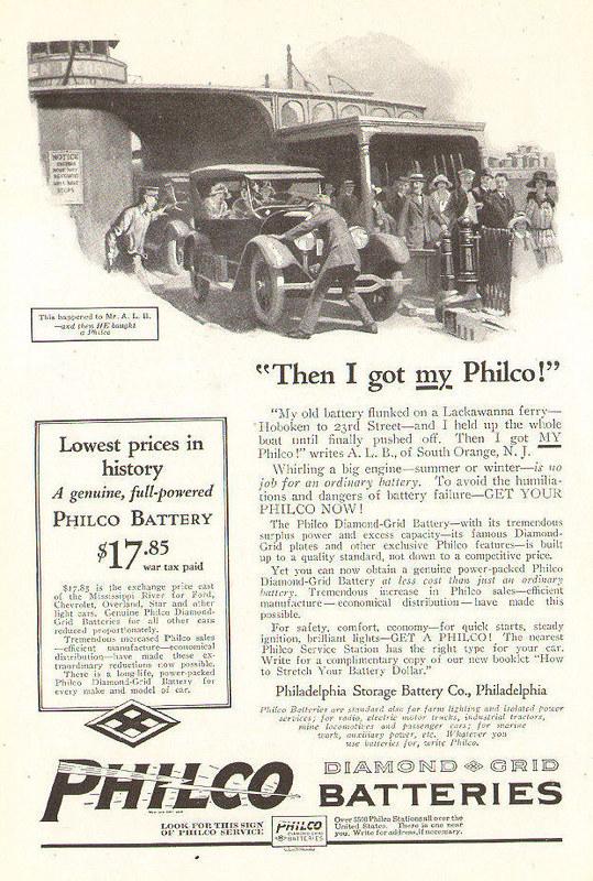 Philco Batteries 1924