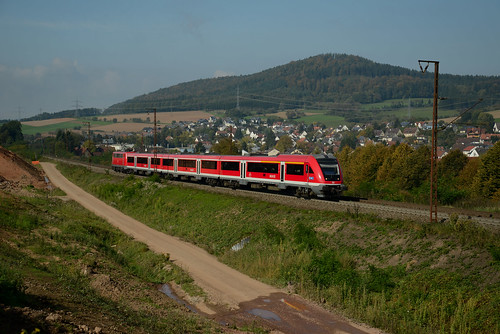DB PumA/ Modus-Wagen mit 111 225 Laufach 01.10.2014