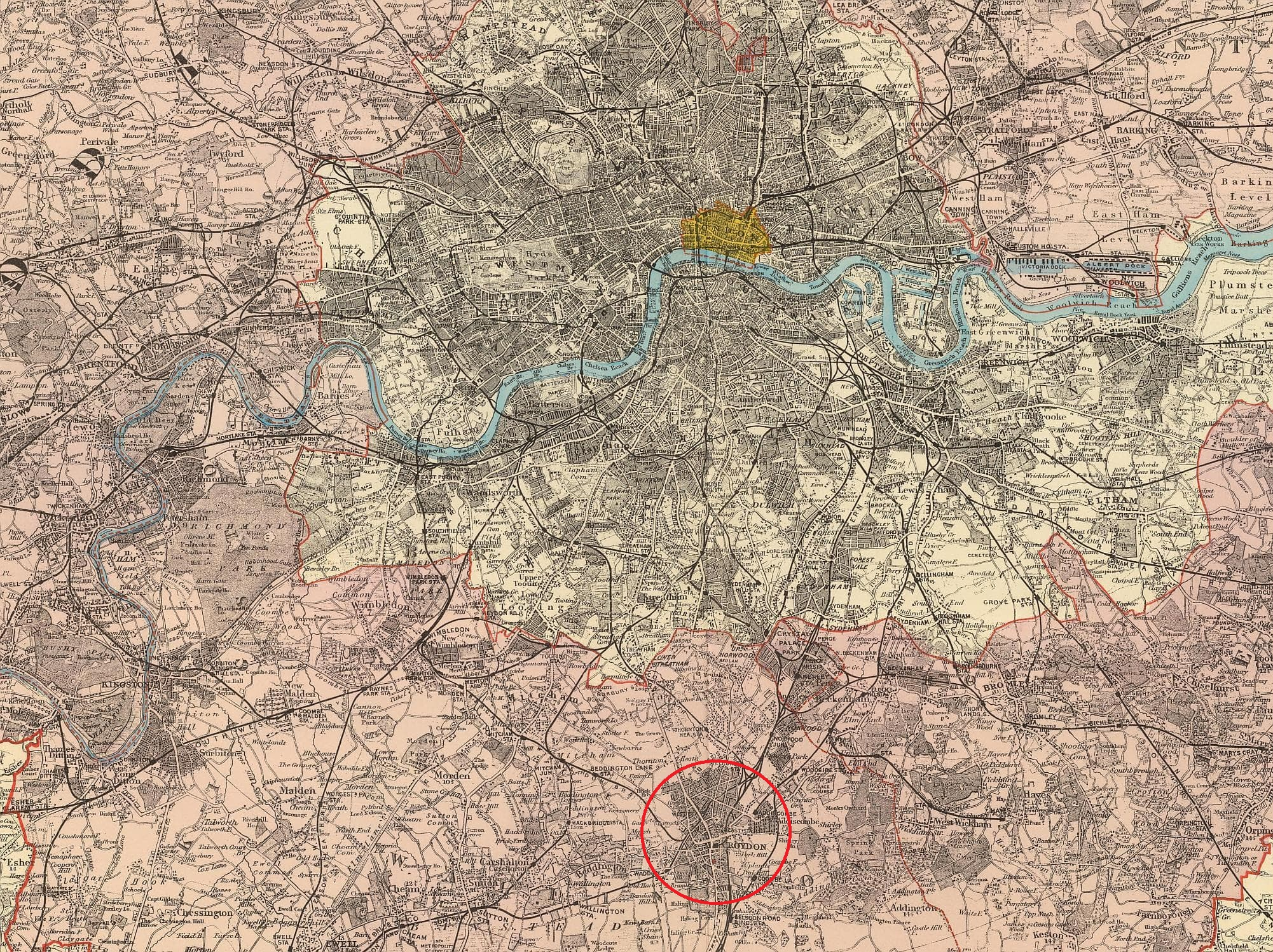 Outer London map 1901