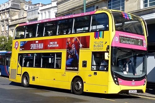 SN17 MTU 'Yellow Buses' No. 201 'pink 3'. Alexander Dennis Ltd. (ADL) E40D / 'ADL' Enviro 400MMC on Dennis Basford's railsroadsrunways.blogspot.co.uk'