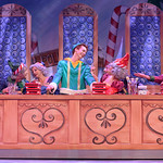 Elf - The Musical at the Arvada Center - Josh Houghton (Buddy) and elves Matt Gale Photography 2018
