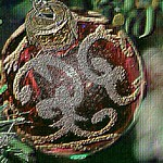 Christmas Ornament Embossed Effect 001