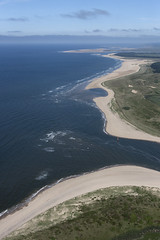 Burnham Harbour mouth - north Norfolk aerial image