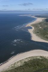 Burnham Harbour mouth - north Norfolk aerial image