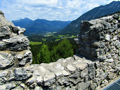 view of valley from Fort Claudia in Reutte, Austria