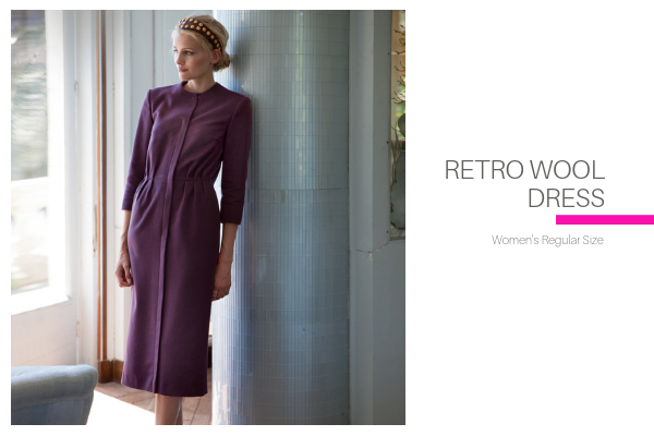 Retro Wool Dress Pattern
