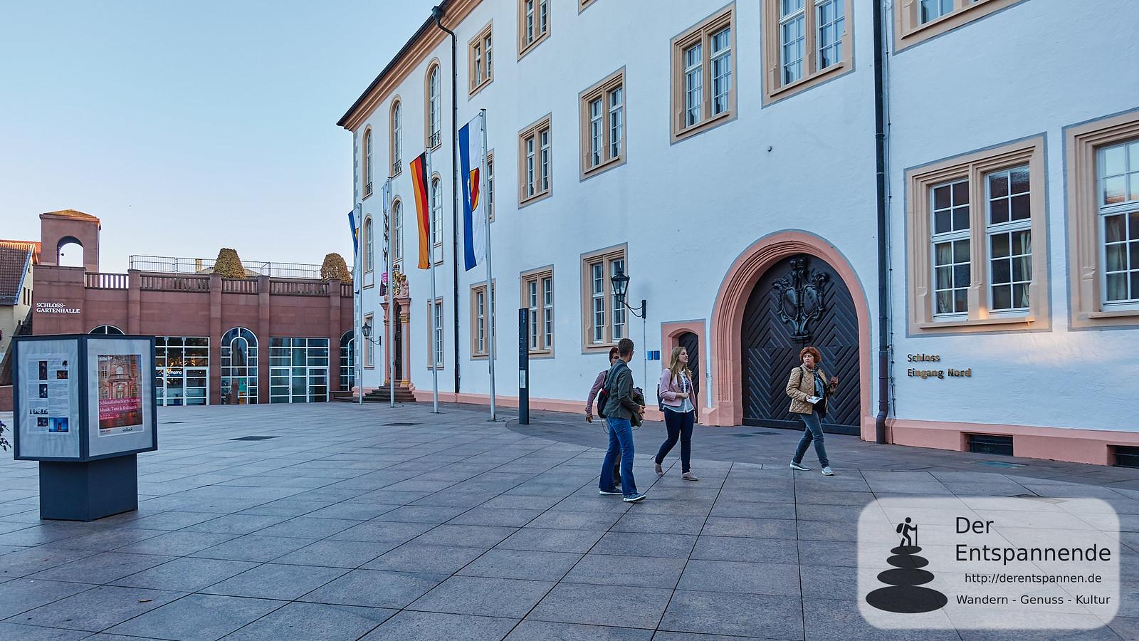 Blogger vor dem Schloss Ettlingen