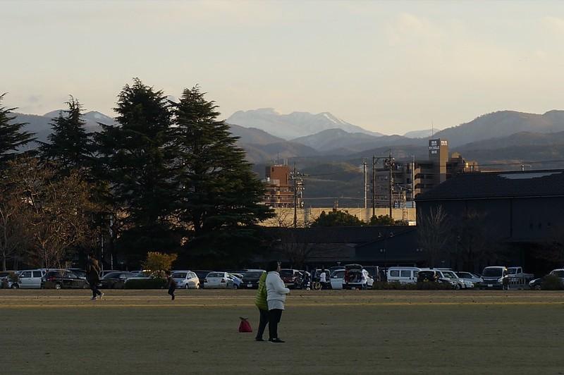 Mt. Hakusan from Kanazawa Civic Art Village