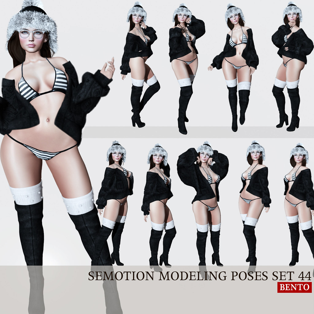 SEmotion Female Bento Modeling poses Set 44