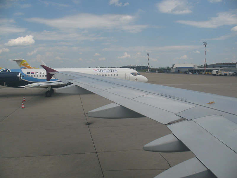 Departure from Zagreb airport