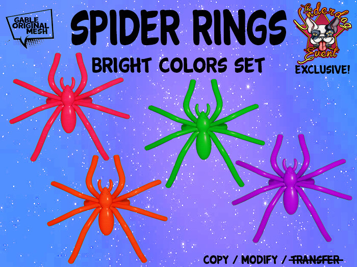 Spider Rings (Brights) out now @ the Underdog Event