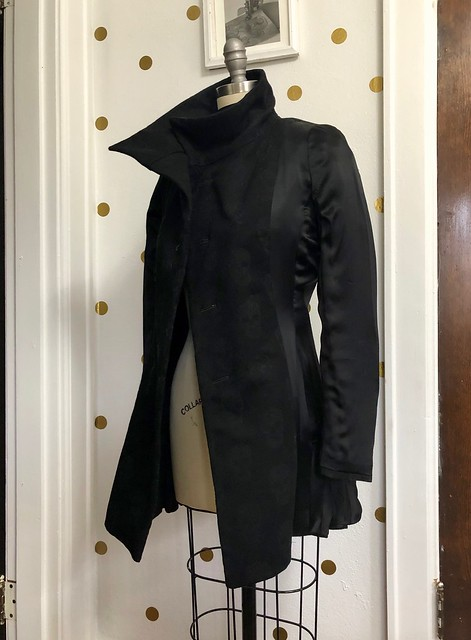 Quart Coat made with Alexander McQueen fabric