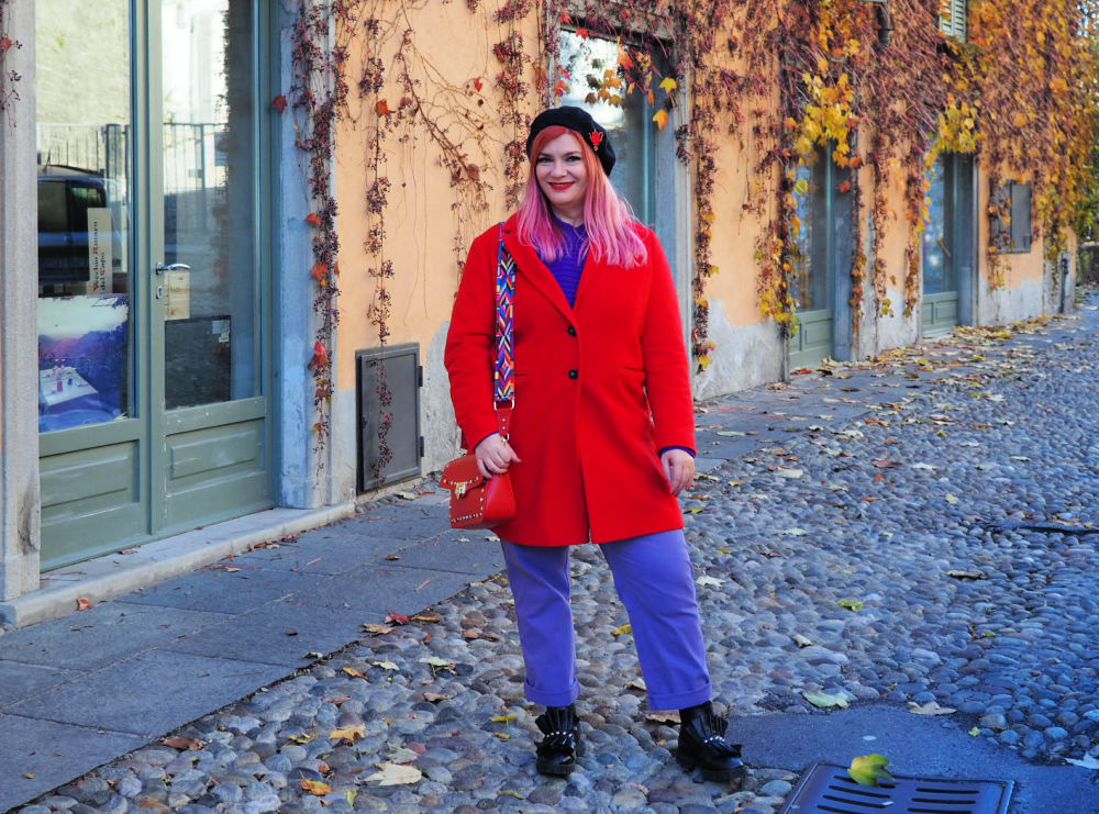 Outfit plus size curvy viola e rosso (8)