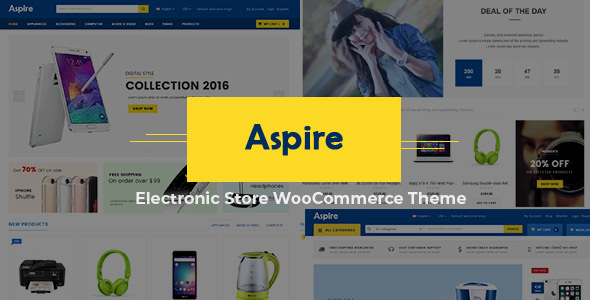 Aspire v4.5 - Electronic Store WooCommerce WordPress Theme