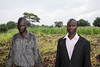 Ojara, 45 (left), and Lendri (right), 43, are both local Ugandans who saw the massive influx of South Sudanese refugees into their community.   It was Lendri's idea to start a garden and plant crops to supplement the parents' food contribution. Local and refugee parents work hand in hand to grow the crops.  © Christian Jepsen/Danish Refugee Council. All rights reserved. Licensed to the European Union under conditions.