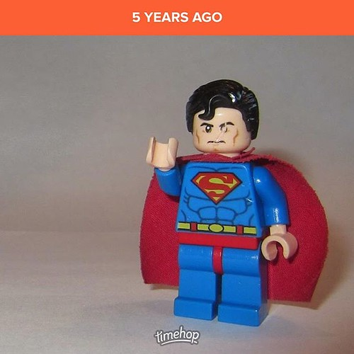 The joy of finding more of the kids' photos that made it to cloud storage and are now fair game for @timehop... Wonder what brawl Superman got in to to damage his eye...