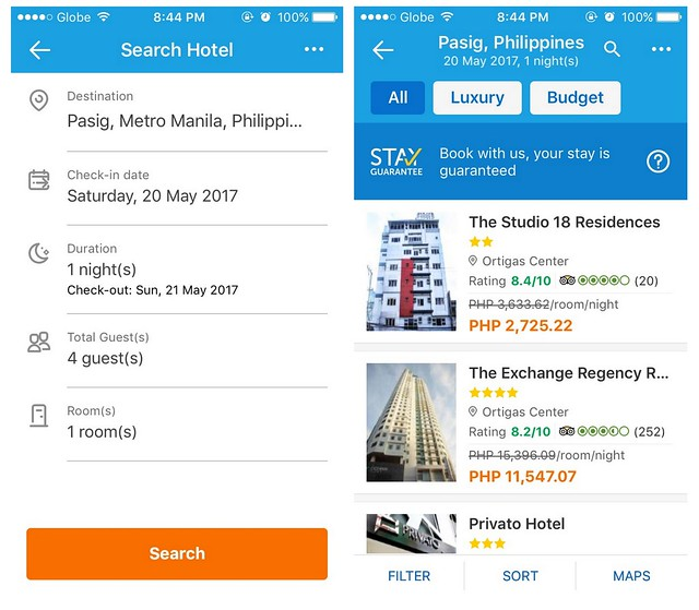 Traveloka App Search Hotel