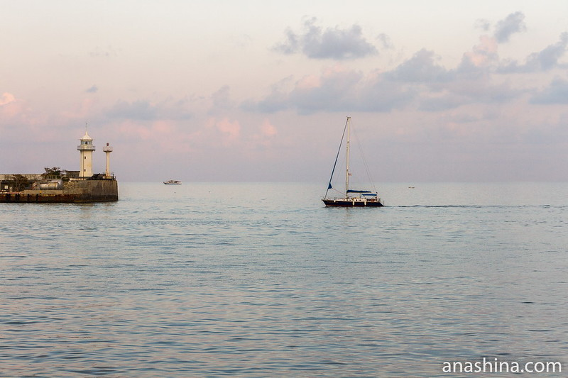 Ялта, Черное море, закат