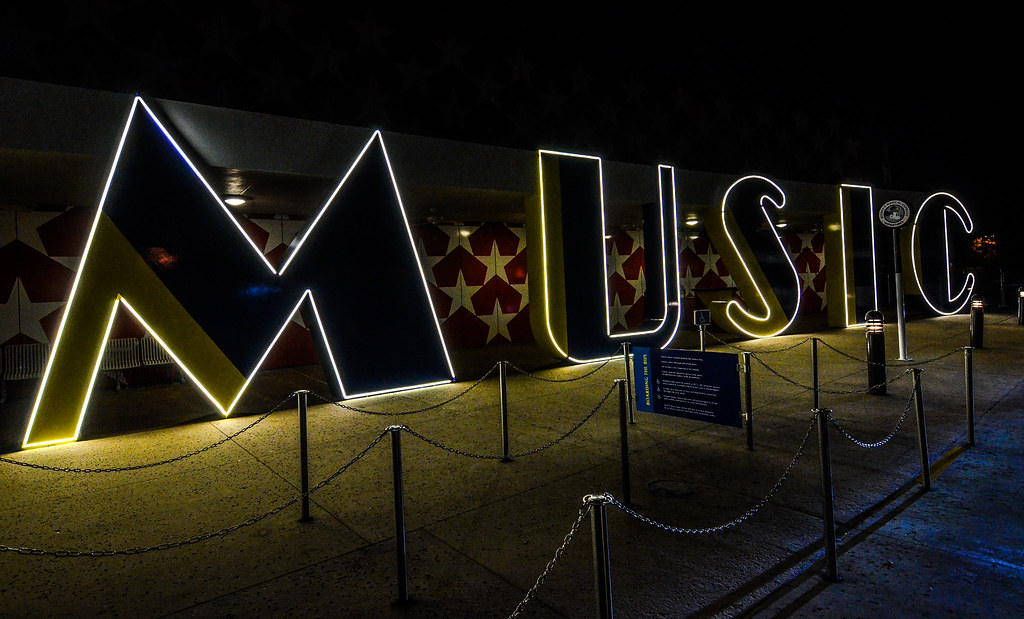 All Star Music Resort Music sign