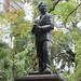 Port-Louis : statue de Manilal Maganlal
