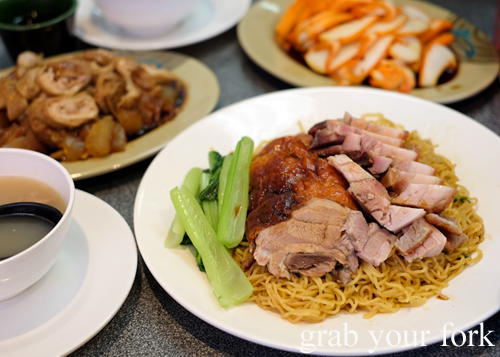 Chinese bbq meats at No.  BBQ House in Campsie