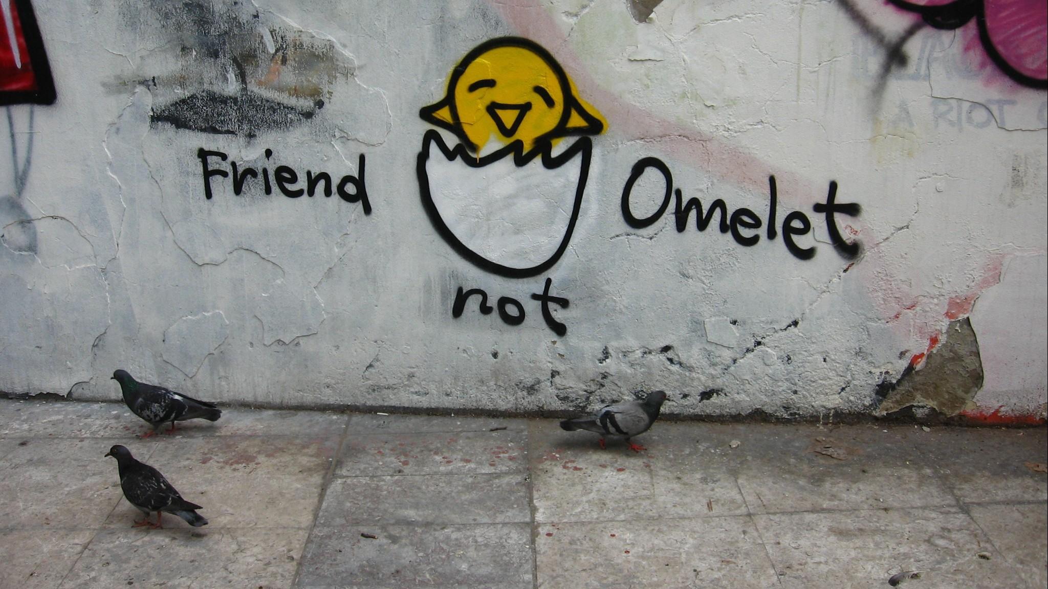 Graffiti with pro-vegan message