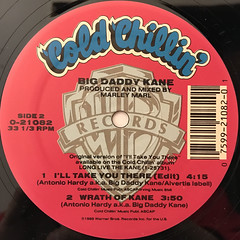 BIG DADDY KANE:I'LL TAKE YOU THERE(LABEL SIDE-B)