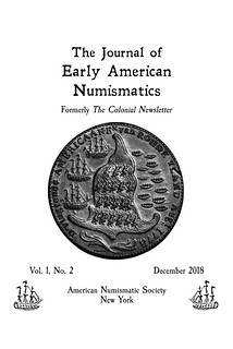 Journal of Early American Numismatics v1n2 cover
