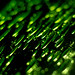 Green speckled glass abstract