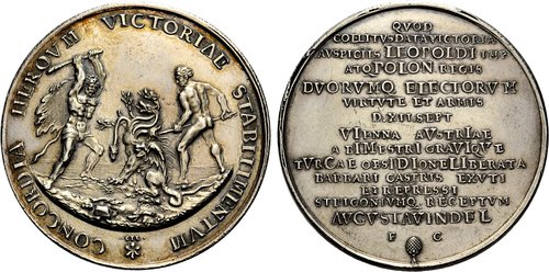 Hydra defeat of the Turks before Vienna, medal
