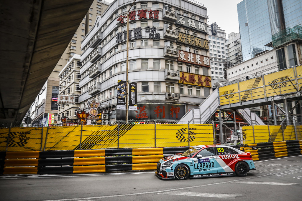 69 VERNAY Jean-Karl, (fra), Audi RS3 LMS TCR team Audi Sport Leopard Lukoil, action during the 2018 FIA WTCR World Touring Car cup of Macau, Circuito da Guia, from november  15 to 18 - Photo Francois Flamand / DPPI