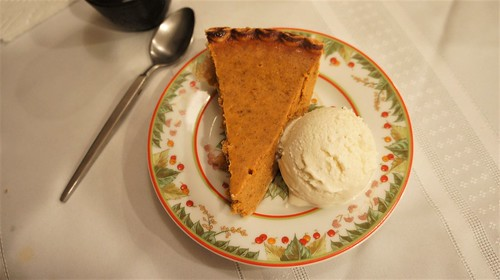 Pumpkin Pie and Breyer's Vanilla