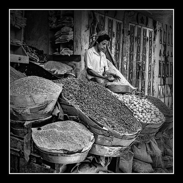 In the Spice Souk  -  Yemen