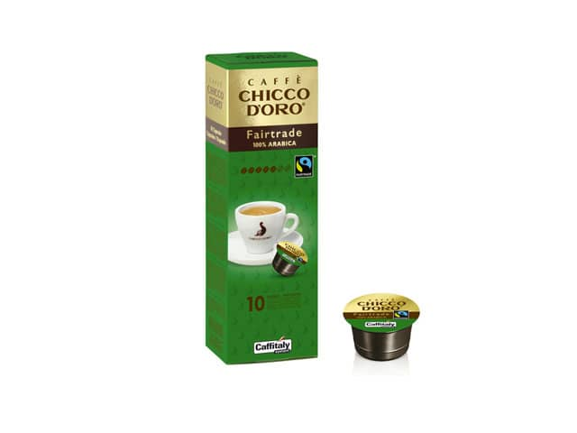 Fair Trade 100% Arabica Chicco d'Oro, capsule caffè Caffitaly