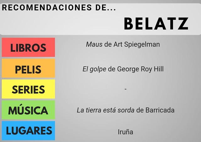 RECOMENDACIONES Belatz