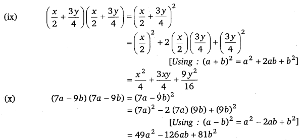 NCERT Solutions for Class 8 Maths Chapter 9 Algebraic Expressions and Identities 24