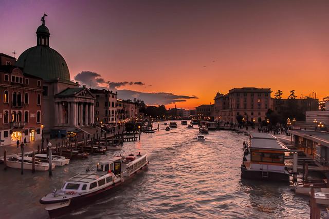 Tramonto Veneziano Ponte degli scalzi