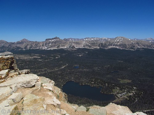 Mirror Lake and the ridge surrounding Mt. Agassiz from Bald Mountain in the High Uintas of Utah